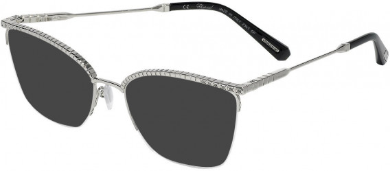 Chopard VCHD13S sunglasses in Shiny Full Palladium