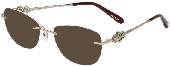 Chopard VCHD11S sunglasses in Shiny Camel