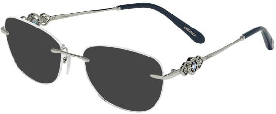 Chopard VCHD11S sunglasses in Shiny Full Palladium