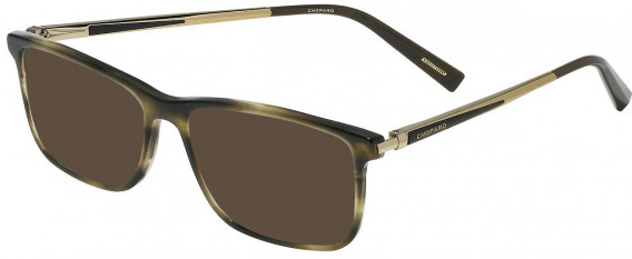 Chopard VCH269 sunglasses in Shiny Striped Brown