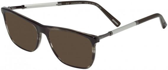 Chopard VCH257V sunglasses in Shiny Striped Grey