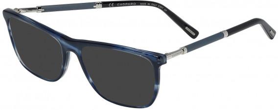 Chopard VCH257V sunglasses in Shiny Striped Blue