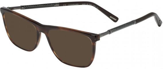 Chopard VCH257 sunglasses in Shiny Striped Brown