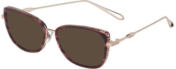 Chopard VCH256M sunglasses in Shiny Copper Gold