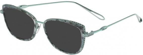 Chopard VCH256M sunglasses in Shiny Water Green