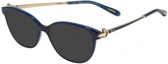 Chopard VCH245S sunglasses in Shiny Glittery Blue