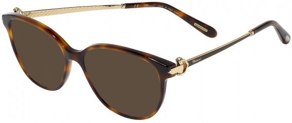 Chopard VCH245S sunglasses in Shiny Striped Havana With Glittery