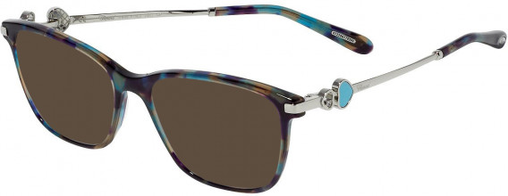 Chopard VCH244S sunglasses in Shiny Brown/Yellow/Turquoise Havana