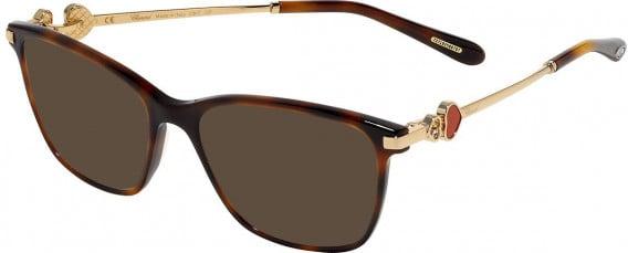 Chopard VCH244S sunglasses in Shiny Dark Havana