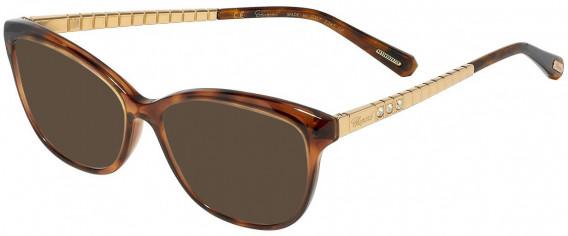 Chopard VCH243S sunglasses in Shiny Havana With Glittery