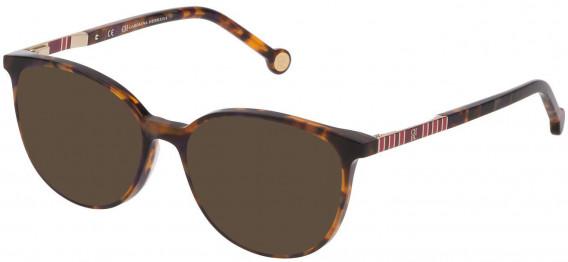 CH Carolina Herrera VHE839 sunglasses in Shiny Violet/Havana