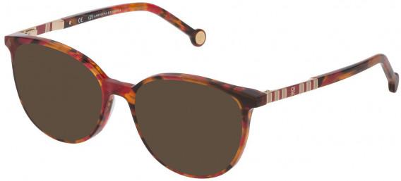CH Carolina Herrera VHE839 sunglasses in Shiny Red Havana