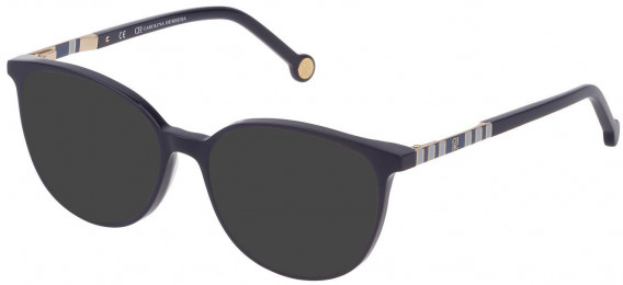 CH Carolina Herrera VHE839 sunglasses in Shiny Dark Blue