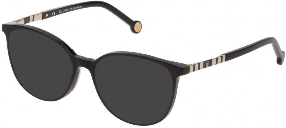 CH Carolina Herrera VHE839 sunglasses in Shiny Black
