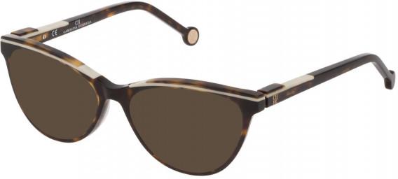 CH Carolina Herrera VHE837L sunglasses in Shiny Dark Havana