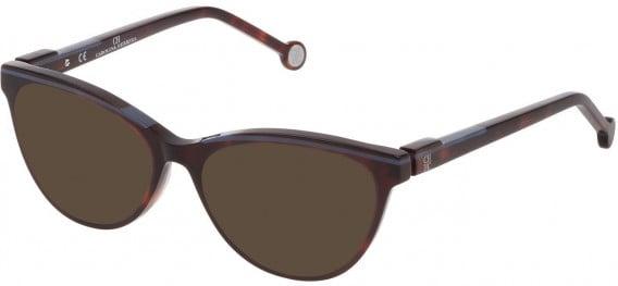 CH Carolina Herrera VHE837L sunglasses in Shiny Red Havana