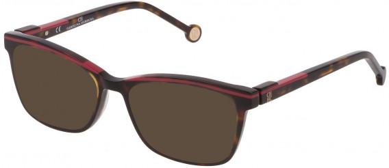 CH Carolina Herrera VHE836L sunglasses in Shiny Dark Havana