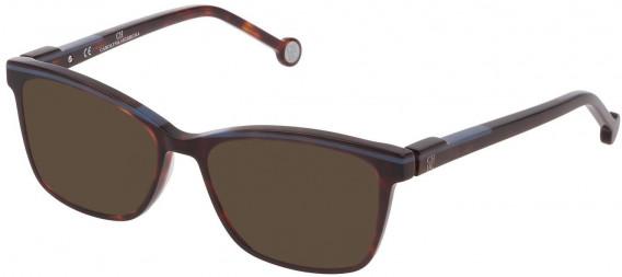 CH Carolina Herrera VHE836L sunglasses in Shiny Red Havana