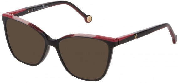 CH Carolina Herrera VHE835 sunglasses in Shiny Black