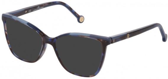 CH Carolina Herrera VHE835 sunglasses in Shiny Blue Havana