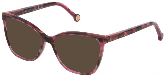 CH Carolina Herrera VHE835 sunglasses in Shiny Transparent Violet Havana