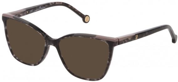 CH Carolina Herrera VHE835 sunglasses in Shiny Grey Havana