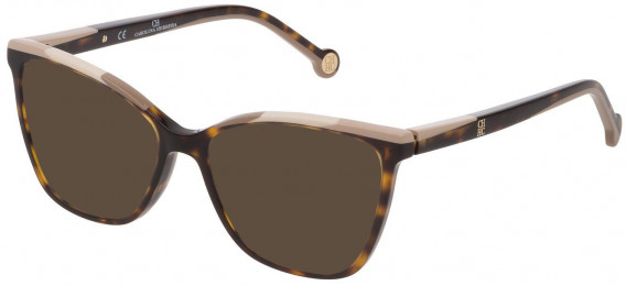 CH Carolina Herrera VHE835 sunglasses in Shiny Dark Havana