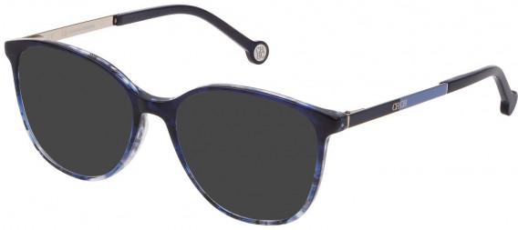 CH Carolina Herrera VHE819 sunglasses in Shiny Blue/Grey