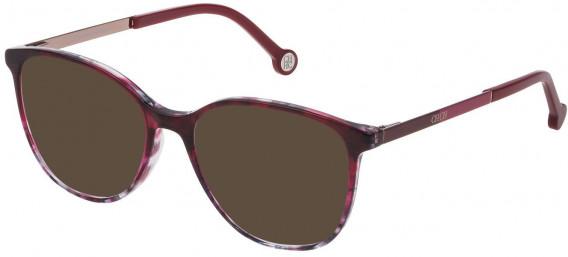 CH Carolina Herrera VHE819 sunglasses in Shiny Bordeaux Gradient Grey
