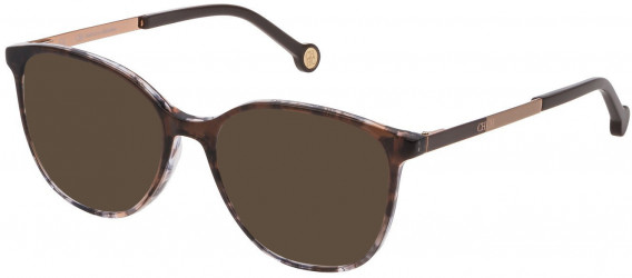 CH Carolina Herrera VHE819 sunglasses in Brown Gradient Grey