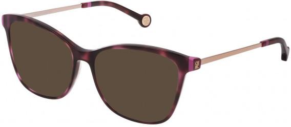 CH Carolina Herrera VHE818 sunglasses in Shiny Havana/Plum