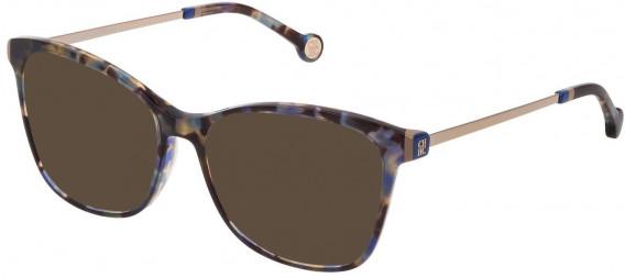 CH Carolina Herrera VHE818 sunglasses in Shiny Blue Havana