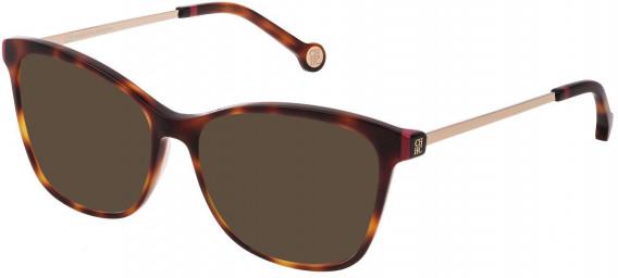CH Carolina Herrera VHE818 sunglasses in Shiny Dark Havana
