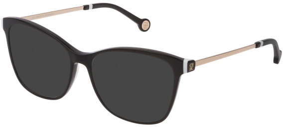 CH Carolina Herrera VHE818 sunglasses in Shiny Black