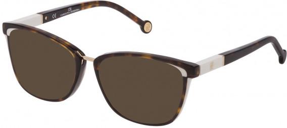 CH Carolina Herrera VHE814 sunglasses in Shiny Dark Havana