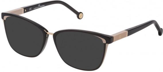 CH Carolina Herrera VHE814 sunglasses in Shiny Black