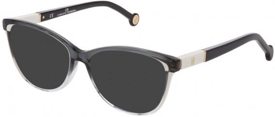 CH Carolina Herrera VHE813 sunglasses in Shiny Black/Grey Gradient Crystal