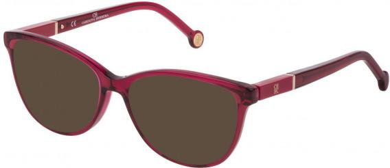 CH Carolina Herrera VHE813 sunglasses in Shiny Transparent Raspberry