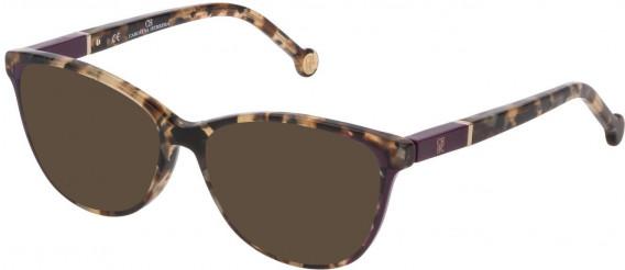 CH Carolina Herrera VHE813 sunglasses in Shiny Transparent Brown Havana