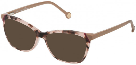 CH Carolina Herrera VHE806L sunglasses in Shiny Pink/Brown Vintage Havana