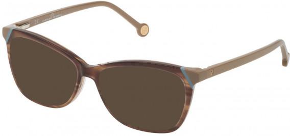CH Carolina Herrera VHE806L sunglasses in Shiny Striped Beige