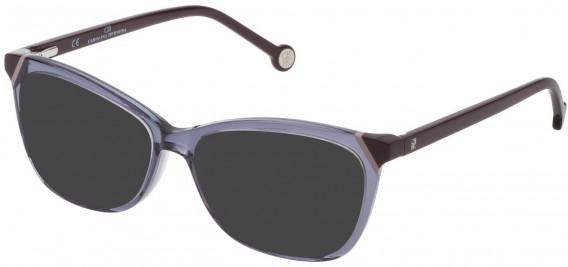 CH Carolina Herrera VHE806L sunglasses in Shiny Asphalt Grey