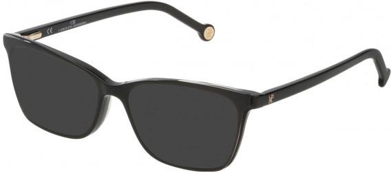 CH Carolina Herrera VHE805 sunglasses in Black/Crystal