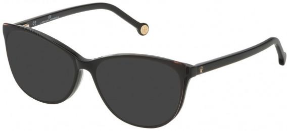 CH Carolina Herrera VHE804 sunglasses in Shiny Black Top/Peach