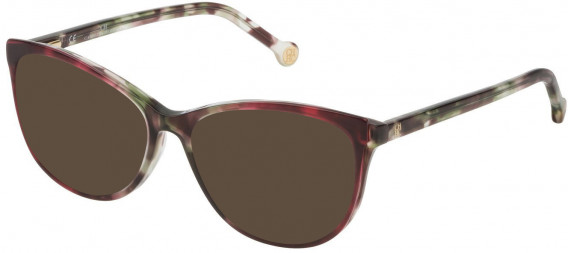 CH Carolina Herrera VHE804 sunglasses in Shiny Violet/Green/Brown Havana
