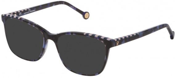 CH Carolina Herrera VHE803V sunglasses in Shiny Blue Havana
