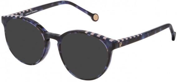CH Carolina Herrera VHE802V sunglasses in Shiny Blu Havana
