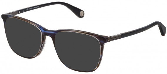 CH Carolina Herrera VHE784 sunglasses in Shiny Striped Blue/Brown