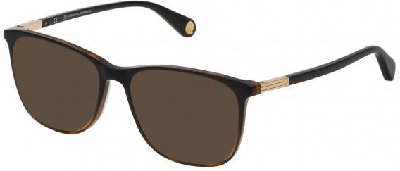 CH Carolina Herrera VHE784 sunglasses in Shiny Black Gradient Havana