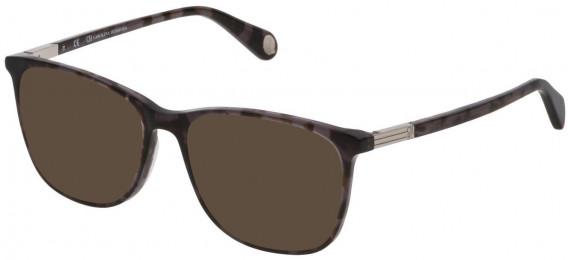 CH Carolina Herrera VHE784 sunglasses in Shiny Grey/Black Havana